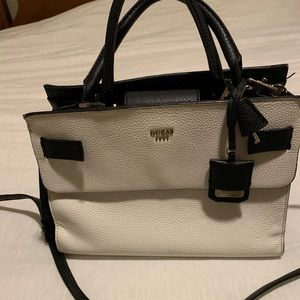 White and Black Guess Handbag